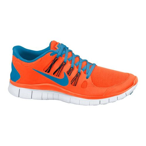 Mens Nike Free 5.0+ Running Shoe - Orange/Blue 11.5