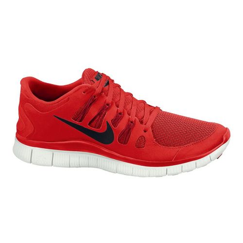 Mens Nike Free 5.0+ Running Shoe - Red 10.5