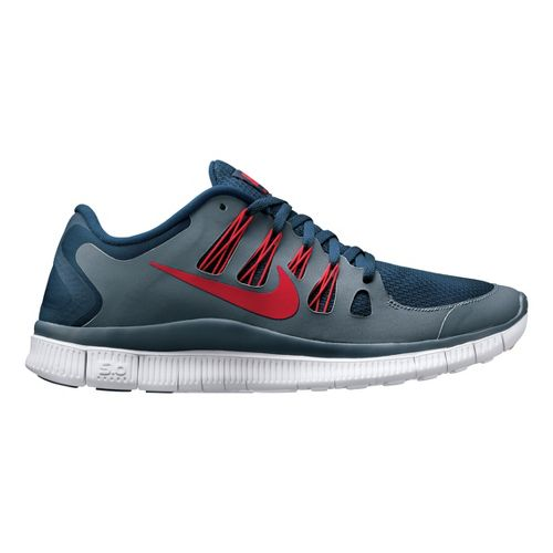 Mens Nike Free 5.0+ Running Shoe - Slate/Navy 11.5