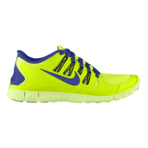Mens Nike Free 5.0+ Running Shoe - Volt/Blue 10