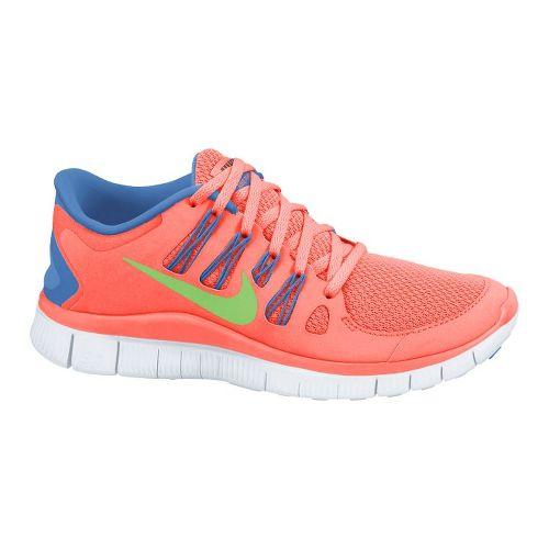 Womens Nike Free 5.0+ Running Shoe - Atomic Pink/Blue 6.5