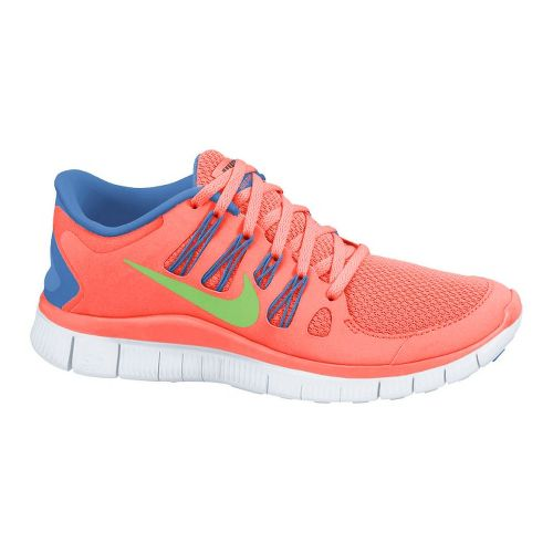 Womens Nike Free 5.0+ Running Shoe - Atomic Pink/Blue 7.5