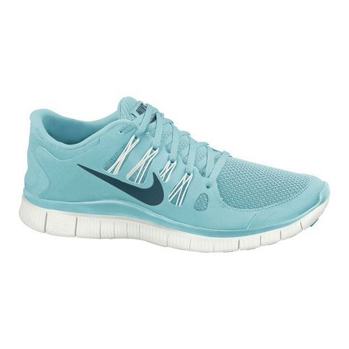 Womens Nike Free 5.0+ Running Shoe - Blue 6.5