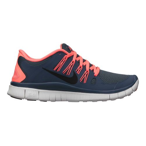Womens Nike Free 5.0+ Running Shoe - Charcoal/Atomic Pink 10