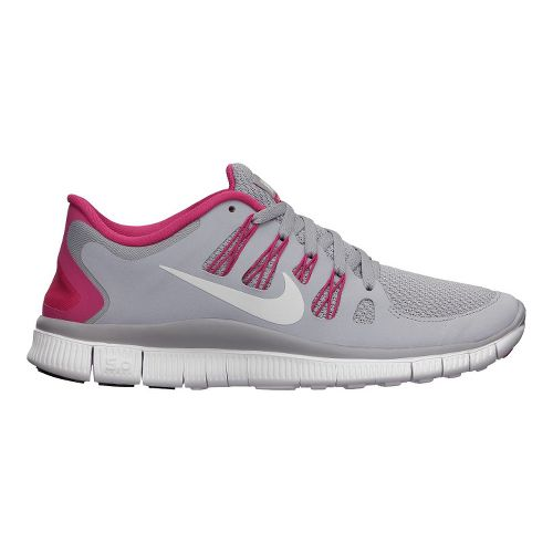 Womens Nike Free 5.0+ Running Shoe - Grey/Pink 10.5