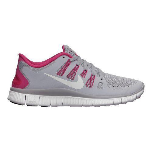 Womens Nike Free 5.0+ Running Shoe - Grey/Pink 6