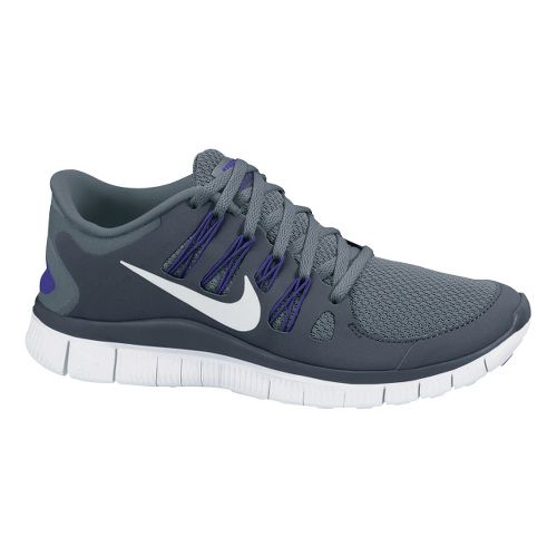 Womens Nike Free 5.0+ Running Shoe - Grey/Purple 8.5