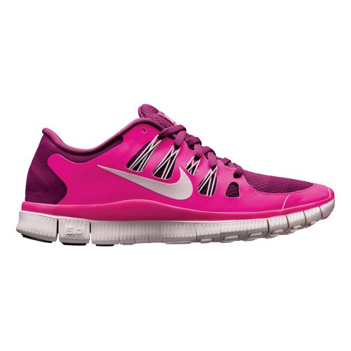 Womens Nike Free 5.0+ Running Shoe - Raspberry/Pink 9