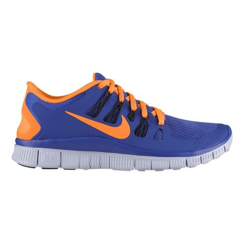 Womens Nike Free 5.0+ Running Shoe - Violet/Citrus 7.5