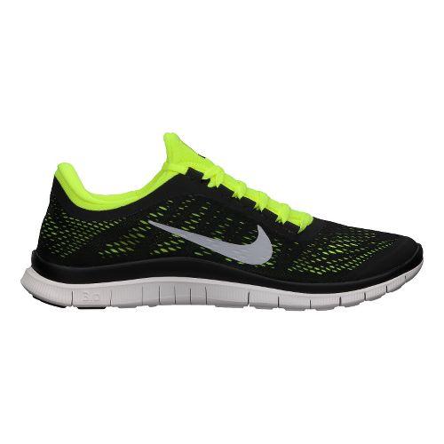 Mens Nike Free 3.0 v5 Running Shoe - Black/Volt 8.5
