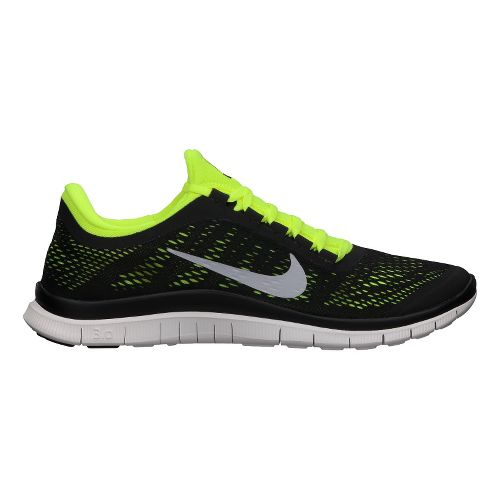 Mens Nike Free 3.0 v5 Running Shoe - Black/Volt 9.5