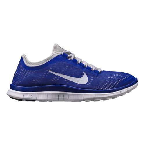 Mens Nike Free 3.0 v5 Running Shoe - Blue/White 10