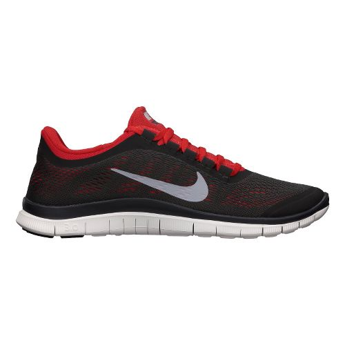 Mens Nike Free 3.0 v5 Running Shoe - Charcoal/Red 11.5