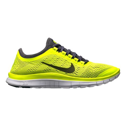 Mens Nike Free 3.0 v5 Running Shoe - Volt/Grey 11.5