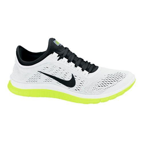 Mens Nike Free 3.0 v5 Running Shoe - White/Volt 10.5
