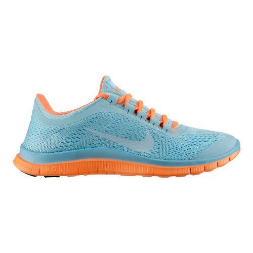 Womens Nike Free 3.0 v5 Running Shoe - Blue/Orange 7.5
