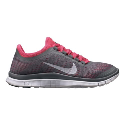 Womens Nike Free 3.0 v5 Running Shoe - Charcoal/Pink 7