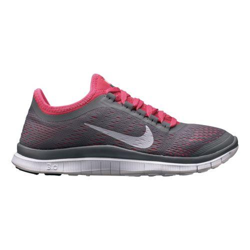 Womens Nike Free 3.0 v5 Running Shoe - Charcoal/Pink 7.5