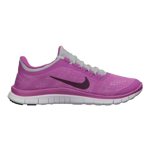 Womens Nike Free 3.0 v5 Running Shoe - Dark Pink 8.5