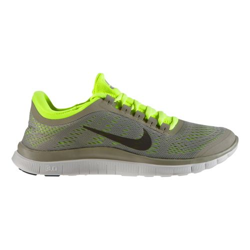 Womens Nike Free 3.0 v5 Running Shoe - Grey/Volt 10