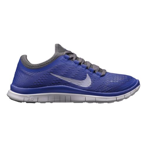 Womens Nike Free 3.0 v5 Running Shoe - Violet/Grey 6.5