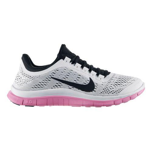 Womens Nike Free 3.0 v5 Running Shoe - White/Pink 8