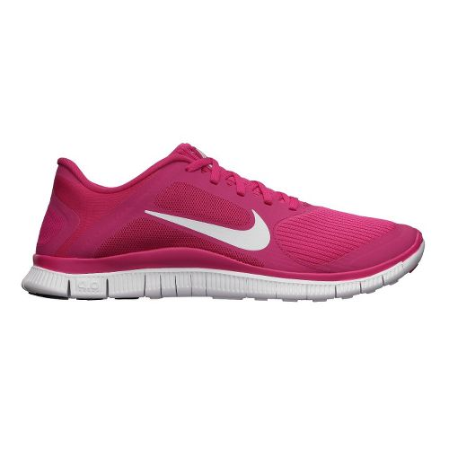 Womens Nike Free 4.0 v3 Running Shoe - Pink/White 11