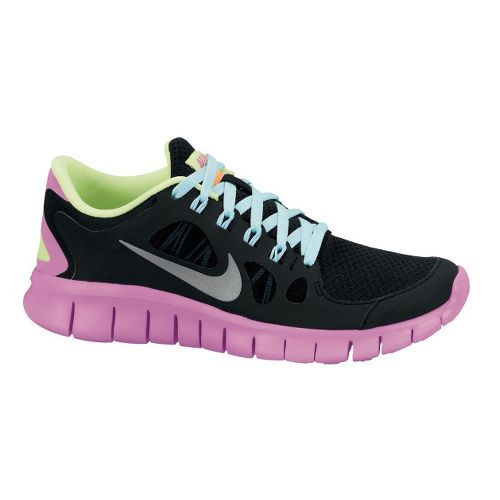 Kids Nike Free Run 5.0 Running Shoe - Black/Pink 5.5