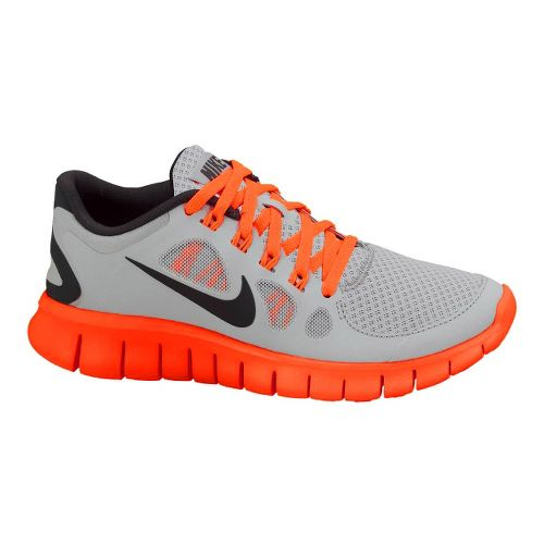 Kids Nike Free Run 5.0 Running Shoe - Grey/Orange 6.5
