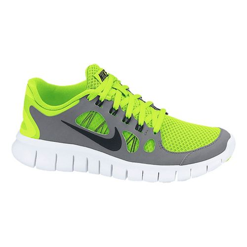 Kids Nike Free Run 5.0 Running Shoe - Volt/Grey 5