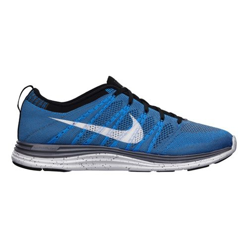 Mens Nike Flyknit Lunar1+ Running Shoe - Blue/Black 9