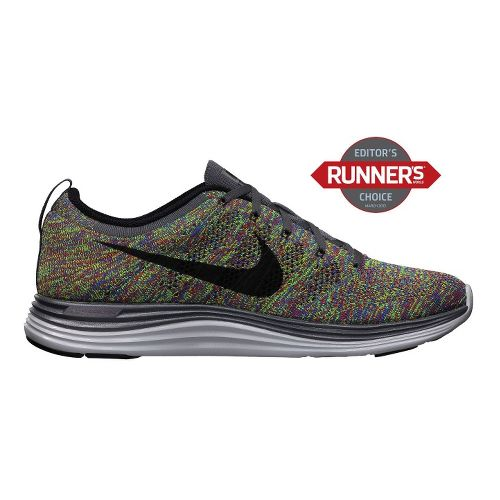 Mens Nike Flyknit Lunar1+ Running Shoe - Multi 12.5
