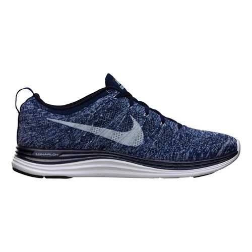 Mens Nike Flyknit Lunar1+ Running Shoe - Multi/White 13