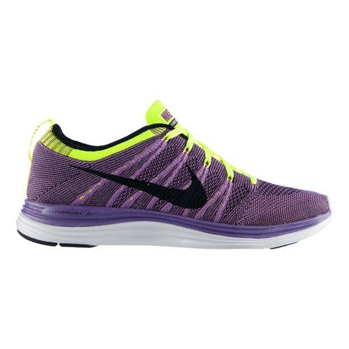 Mens Nike Flyknit Lunar1+ Running Shoe - Purple/Black 9.5