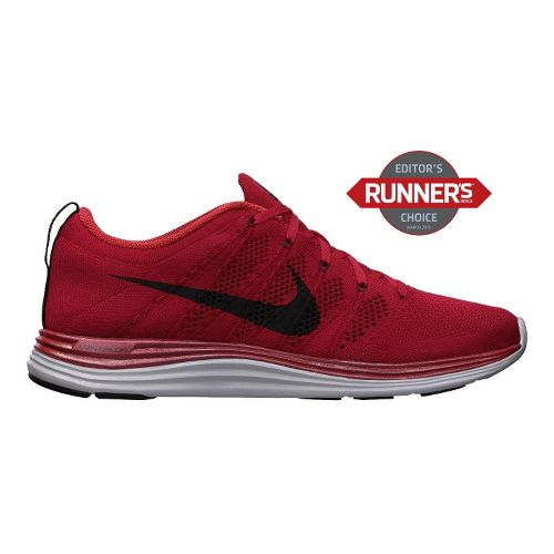 Mens Nike Flyknit Lunar1+ Running Shoe - Red/Black 10