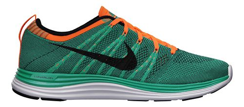Womens Nike Flyknit Lunar1+ Running Shoe - Teal/Orange 10
