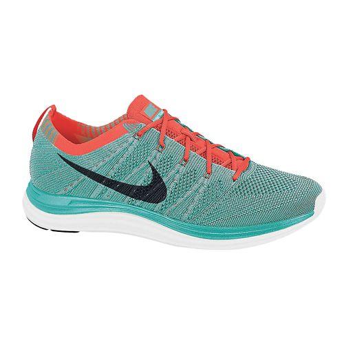 Womens Nike Flyknit Lunar1+ Running Shoe - Turquoise 7.5