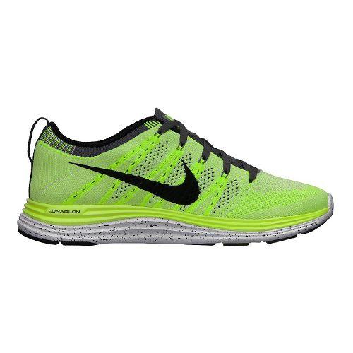 Womens Nike Flyknit Lunar1+ Running Shoe - Volt 8.5