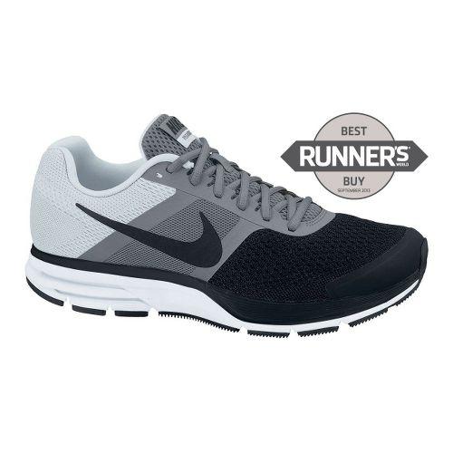 Mens Nike Air Pegasus+ 30 Running Shoe - Grey/Black 14