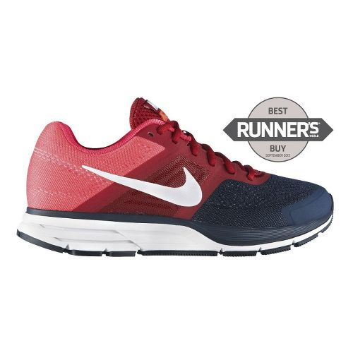 Mens Nike Air Pegasus+ 30 Running Shoe - Red/Navy 10.5