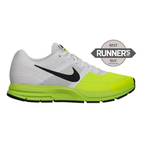 Mens Nike Air Pegasus+ 30 Running Shoe - White/Volt 12