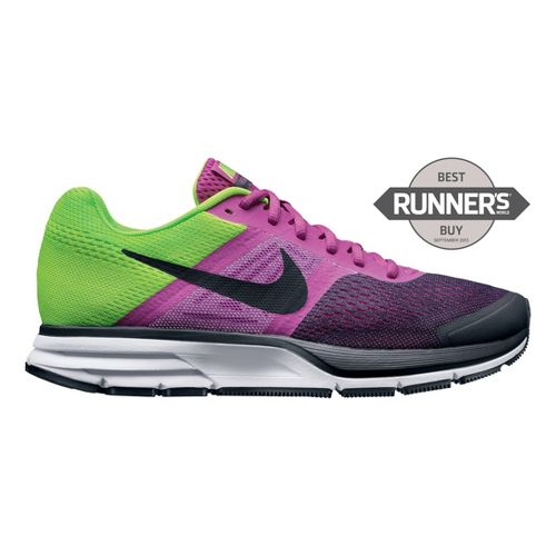 Womens Nike Air Pegasus+ 30 Running Shoe - Dark Pink/Lime 7