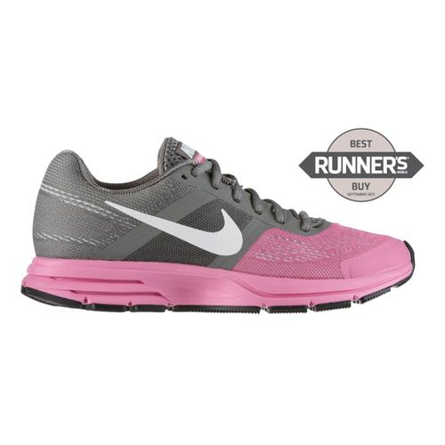 Womens Nike Air Pegasus+ 30 Running Shoe - Grey/Pink 10