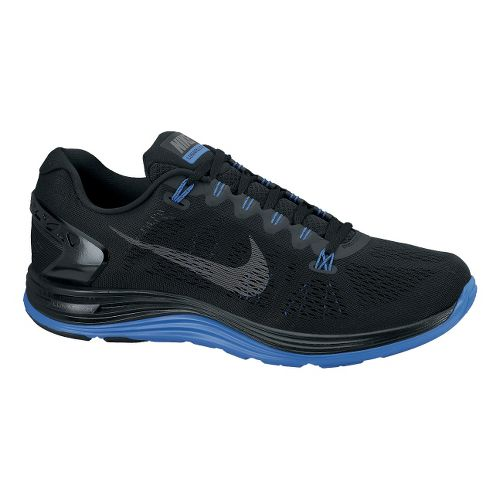 Mens Nike LunarGlide+ 5 Running Shoe - Black 12.5