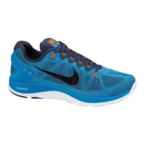 Mens Nike LunarGlide+ 5 Running Shoe - Blue 8.5