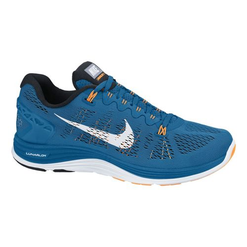 Mens Nike LunarGlide+ 5 Running Shoe - Blue/Black 8