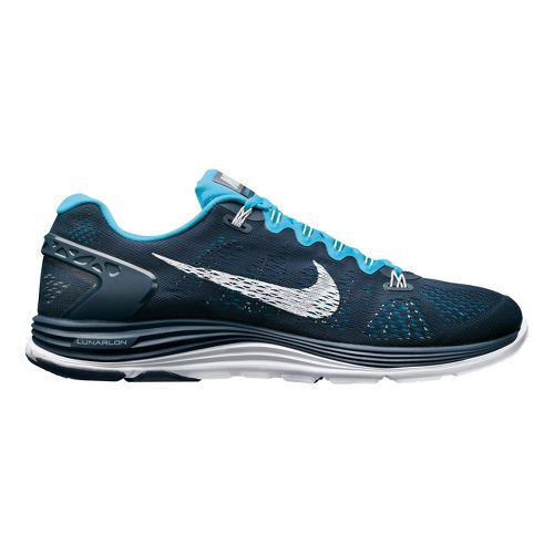 Mens Nike LunarGlide+ 5 Running Shoe - Navy/Blue 9.5