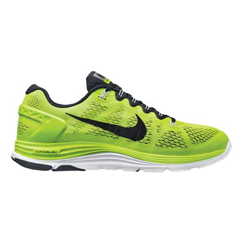 Mens Nike LunarGlide+ 5 Running Shoe - Volt/Black 10.5