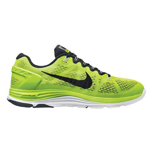 Mens Nike LunarGlide+ 5 Running Shoe - Volt/Black 11