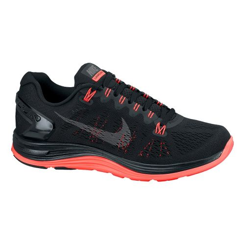 Womens Nike LunarGlide+ 5 Running Shoe - Black 6.5